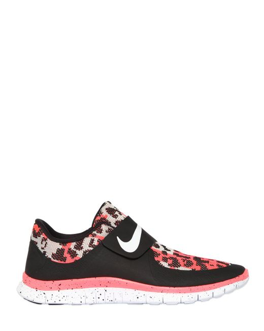 Nike   Red Free Sock Fly Techno Jacquard Sneakers for Men   Lyst