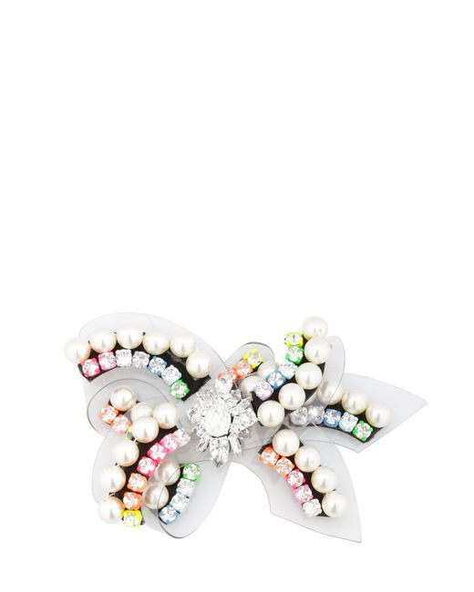 Shourouk | White Bow Rainbow Pin | Lyst