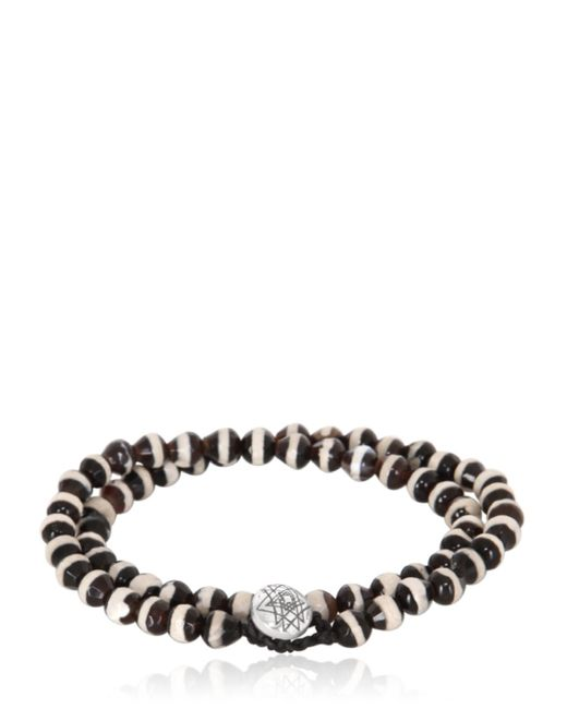 Luis Morais | Black Bi-colour Bead And White-gold Bracelet for Men | Lyst
