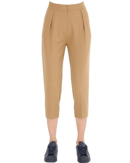 Space Style Concept | Natural Cool Wool Blend Pants | Lyst
