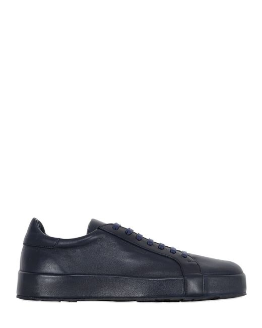 Jil Sander | Blue 10mm Leather Covered Sneakers | Lyst