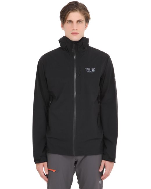 Mountain Hardwear | Black Stretch Ozonic Hardshell Jacket for Men | Lyst