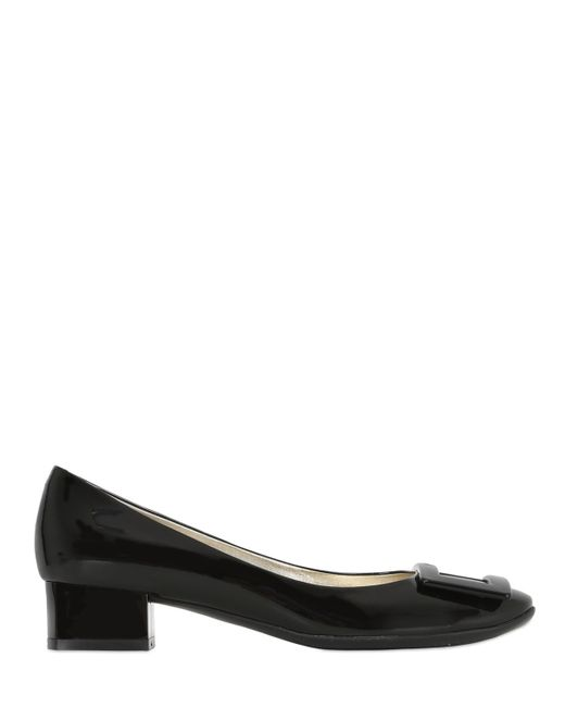 Roger Vivier | Black 35mm Belle De Nuit Patent Leather Pumps | Lyst