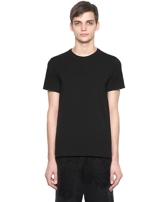 Jil Sander | Black Essential Slim Fit Cotton T-shirt for Men | Lyst