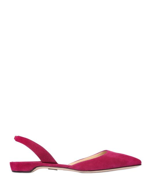 Paul Andrew | Purple 10mm Rhea Suede Pointed Toe Flats | Lyst