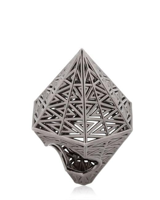 Vojd Studios   Black Hexagonal Ring   Lyst