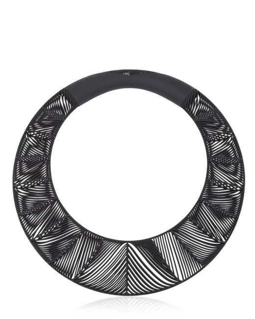 Vojd Studios | Black Chevron Giant Torque Necklace | Lyst