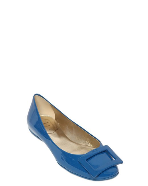 Roger Vivier | Blue 10mm Gommette Patent Leather Ballerinas | Lyst