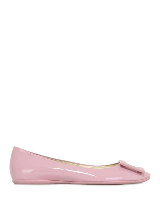 Roger Vivier | Pink Gommette Patent Leather Ballerina Flats | Lyst