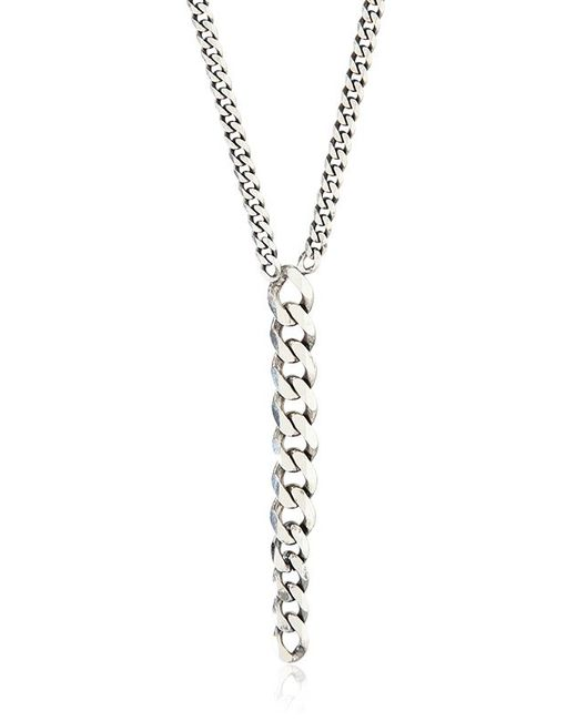Emanuele Bicocchi | Metallic Leather & Rugged Silver Chain for Men | Lyst