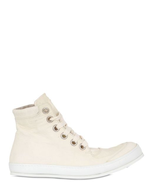 A Diciannoveventitre | White Washed Leather High Top Sneakers for Men | Lyst