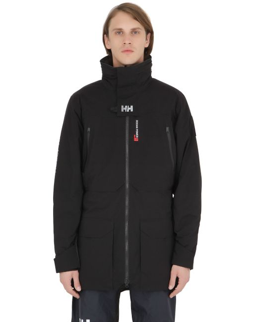 Helly Hansen | Black Shore Nylon Down Parka for Men | Lyst