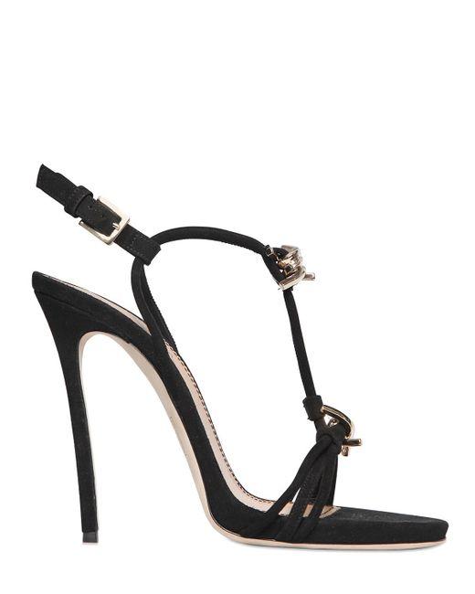 DSquared² | Black - Embellished Sandals - Women - Silk/leather/glass - 39 | Lyst