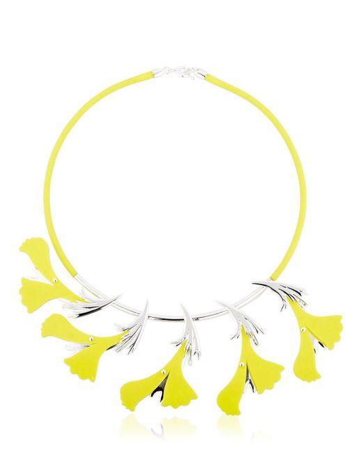 EK Thongprasert   Yellow Silicone Flower Necklace   Lyst