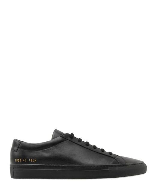 Common Projects | Black Original Achilles Leather Sneakers | Lyst