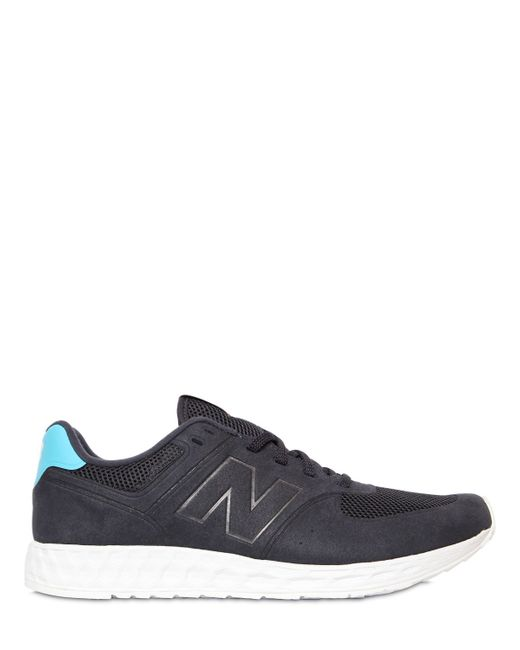 New Balance | Blue 574 Fresh Foam Faux Nubuck Sneakers for Men | Lyst