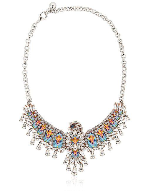 Shourouk | Blue Phenix Necklace | Lyst