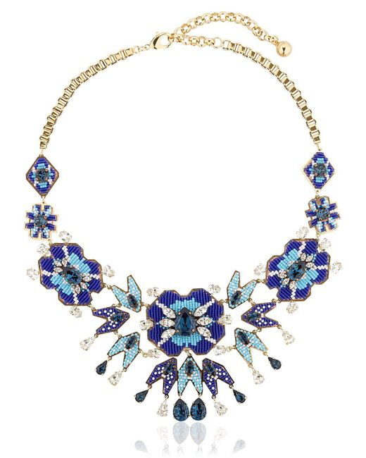 Shourouk | Blue Diego Necklace | Lyst
