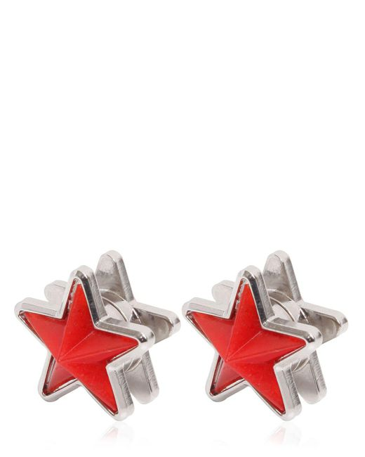 Givenchy | Red Perspex & Metal Star Earrings | Lyst
