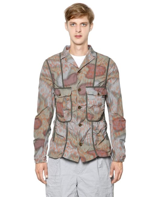 Kolor | Multicolor Printed Wrinkled Cotton Poplin Jacket for Men | Lyst