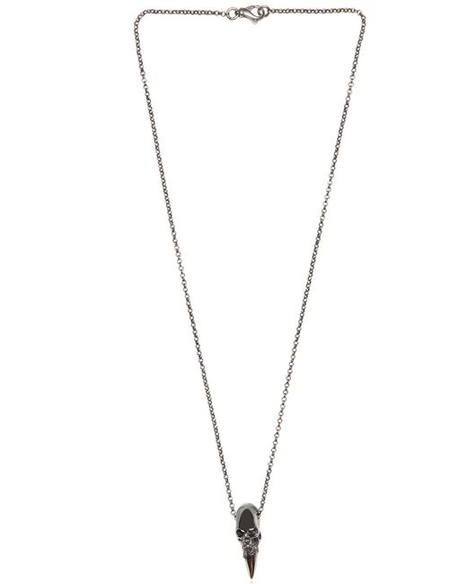 Emanuele Bicocchi | Metallic Skull Spike Pendant On Chain Necklace for Men | Lyst