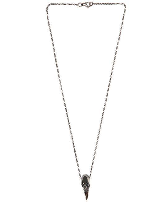 Emanuele Bicocchi | Metallic Skull Spike Pendant On Chain Necklace for Men | Lyst