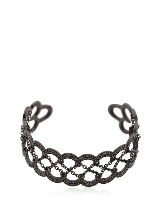 Colette | Black Entwined Corset Cuff Bracelet | Lyst