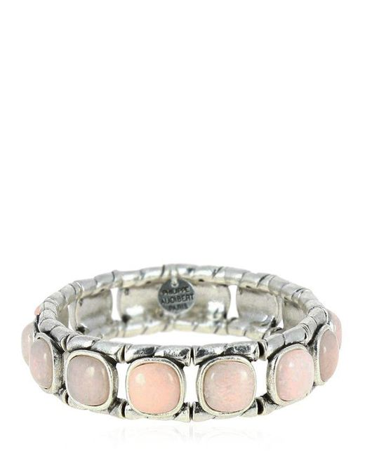 Philippe Audibert | Pink Lakota Rose Agate Stretch Bracelet | Lyst