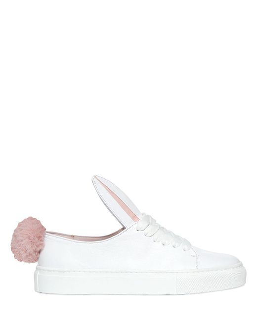 Minna Parikka | Bunny White Leather Trainers - Size 6 | Lyst