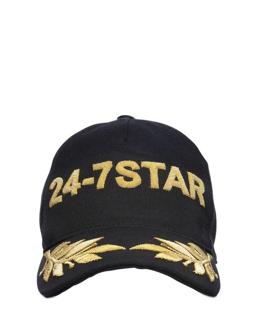 DSquared² | Black Icon Embroidered Canvas Baseball Hat for Men | Lyst