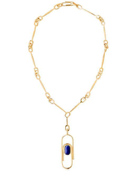 Aurelie Bidermann | Metallic Angelica Lapis Lazuli Necklace | Lyst