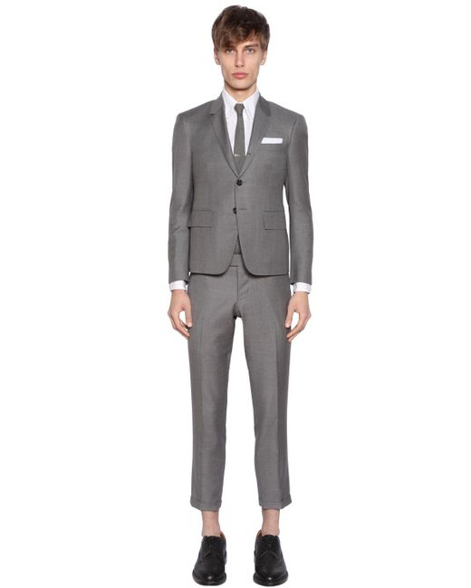 Thom Browne Stripe Shoes And Suit