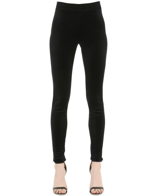 Wolford | Black Viscose Leggings | Lyst