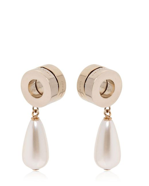 Givenchy - White Resin Pearl Pendant & Metal Earrings - Lyst