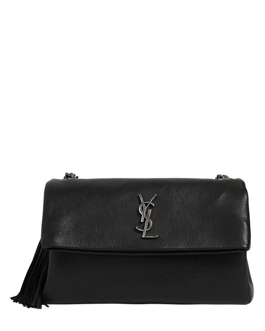 Saint Laurent | Black West Hollywood Leather Bag W/ Tassel | Lyst