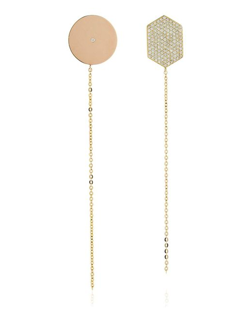 Lito | Metallic Infinity Diamond Shape Earrings | Lyst