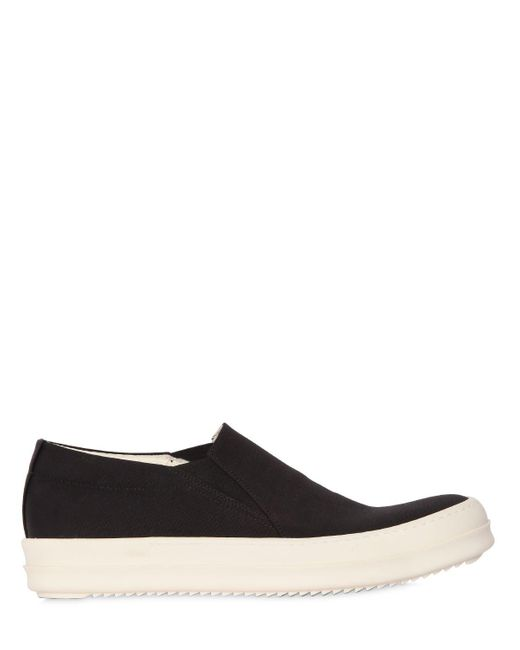 Rick Owens | Black Drkshdw Deck Slip-on Sneakers for Men | Lyst