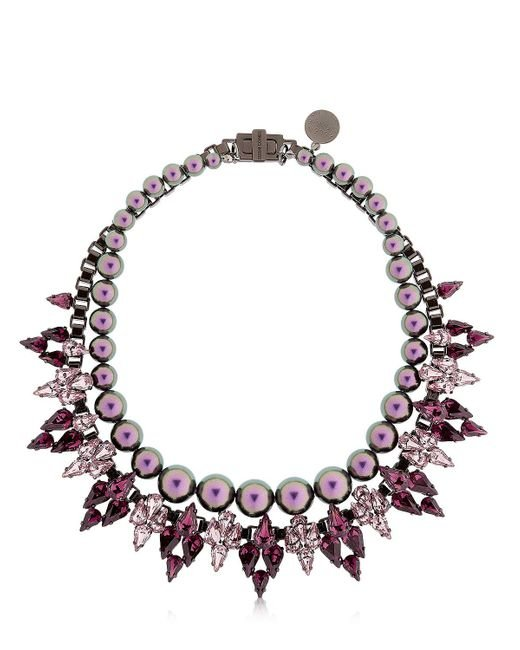 Ellen Conde | Purple Brilliant Jewelry Crystal Necklace | Lyst