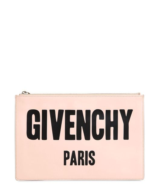 Givenchy | Pink Medium Iconic Printed Leather Pouch | Lyst