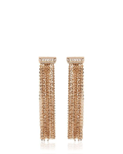 Lanvin | Metallic Chain Fringed Clip-on Earrings | Lyst