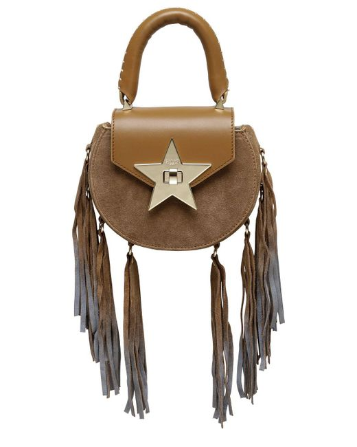 Salar | Brown Mimi Fringed Leather & Suede Bag | Lyst