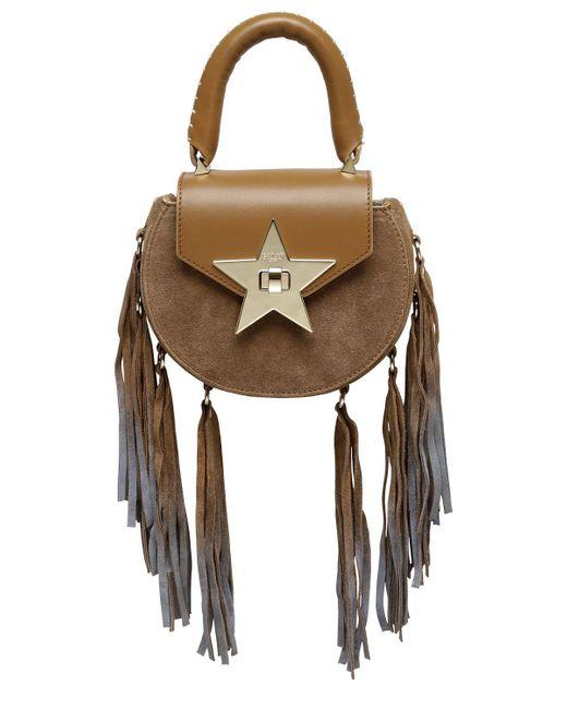 Salar | Brown Mimi Fringed Leather & Suede Shoulder Bag | Lyst