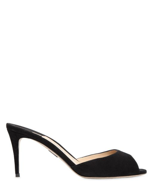Paul Andrew | Black 75mm Aristata Suede Sandals | Lyst