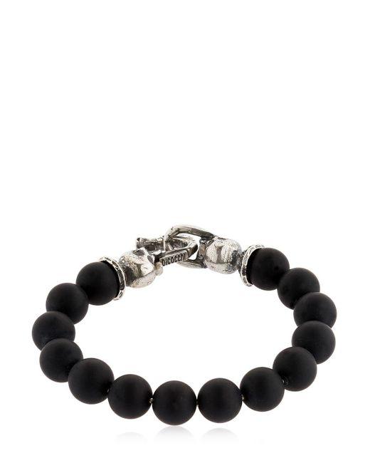 Emanuele Bicocchi   Black Onyx Beads & Sterling Silver Bracelet   Lyst