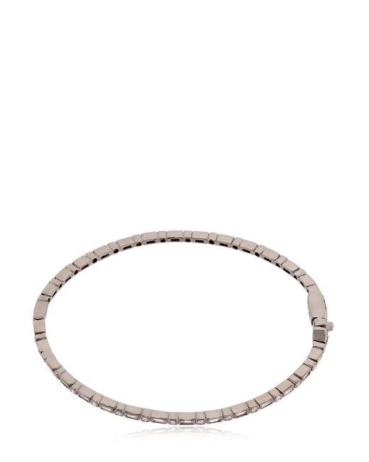 Colette   Entwined Diamond Black Gold Bracelet   Lyst