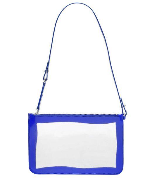 Maison Margiela | Blue Metallic Leather Pouch | Lyst