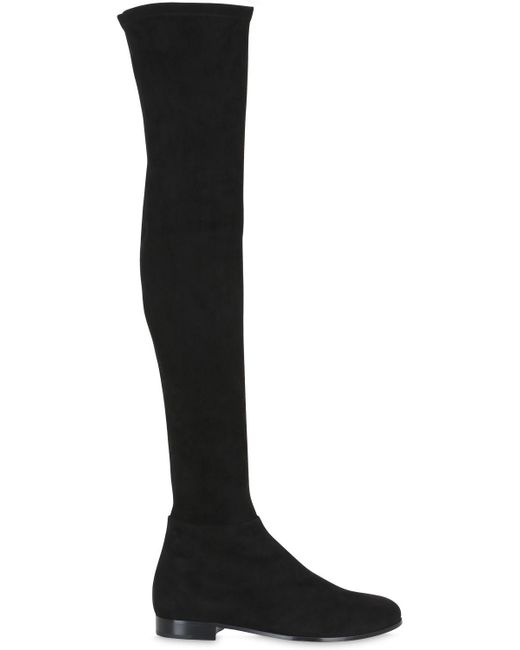 Jimmy Choo | Black Myren Stretch-Suede Over-The-Knee Boots | Lyst