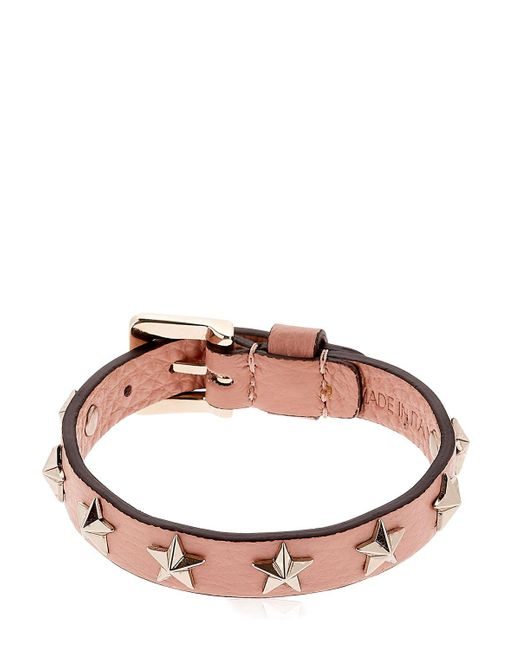RED Valentino | Multicolor Leather Bracelet W/ Star Studs | Lyst