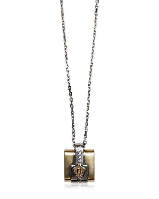 Versace | Metallic Medusa Pendant On Chain Necklace for Men | Lyst