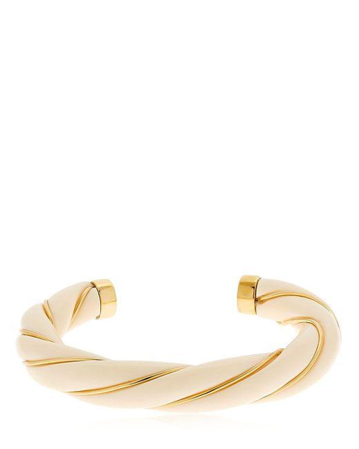 Aurelie Bidermann | White Diana Twisted Bracelet | Lyst